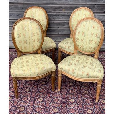 Series Of Four Chairs Stamped Louis XVI Period