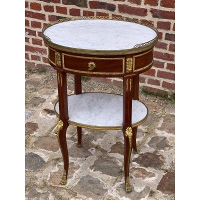 table de salon transition en acajou d'époque napoléon III