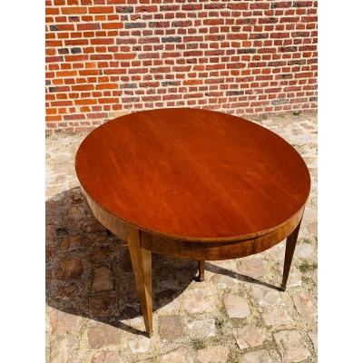 Six-foot Mahogany Table From The Directoire Period