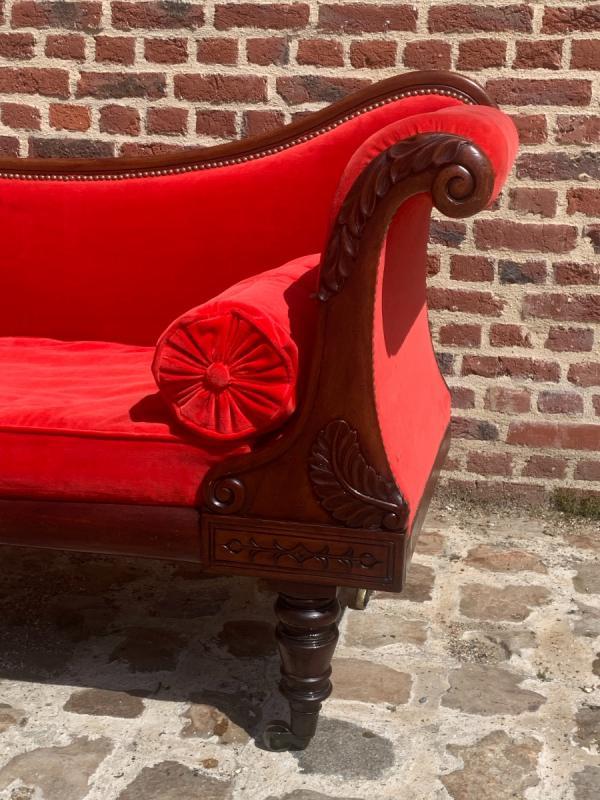 Mahogany Chaise Longue Restoration Circa 1815-photo-2