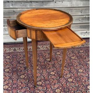 Directoire Period Marquetry Pedestal Table