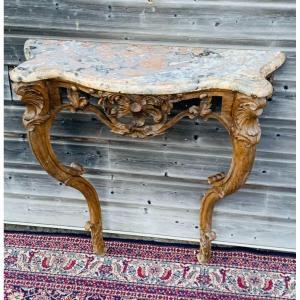 console d'applique louis XV  en chêne sculpté d'époque XIX éme