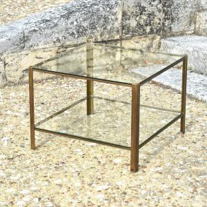 Maison Malabert - Bronze Side Coffee Table - Design Circa 1960