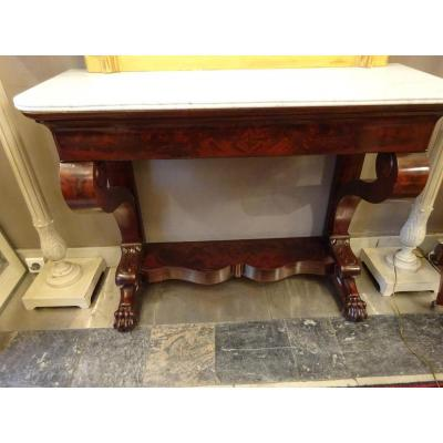 Support Mahogany Console Restoration Period