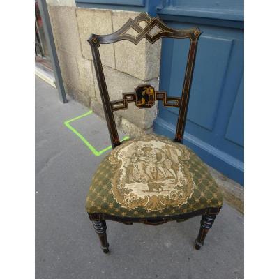 Petite Chaise chauffeuse Napoléon III Dans Le Goût Chinois