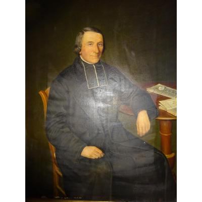 Ecclesiastical Portrait Dating From The End Of The XIXth Century