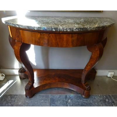 Restoration Period Console In Mahogany
