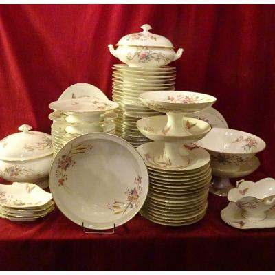 Important Table Service In Porcelain From Vierzon