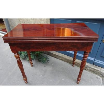 Louis-philippe Period Mahogany Game Table