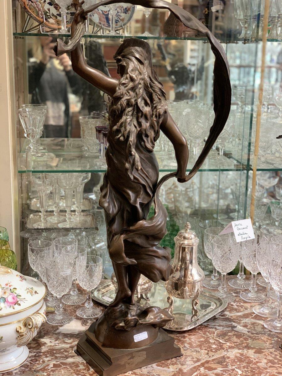 """Bronze """"L'Aurore"""" by Auguste Moreau"""