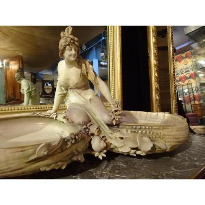 Amphora Grand Vide- Poches En Porcelaine Polychrome