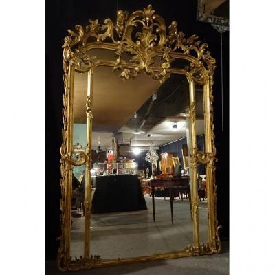 Grand Miroir A Pares-closes Napoléon III 210cm x 140 cm