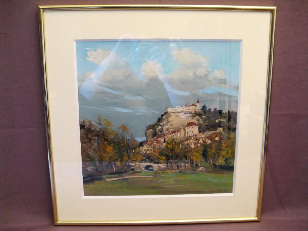 Rocamadour Gouache Painting