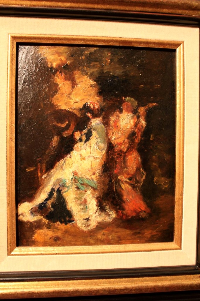 Oil On Cardboard By Adolphe Monticelli-photo-3