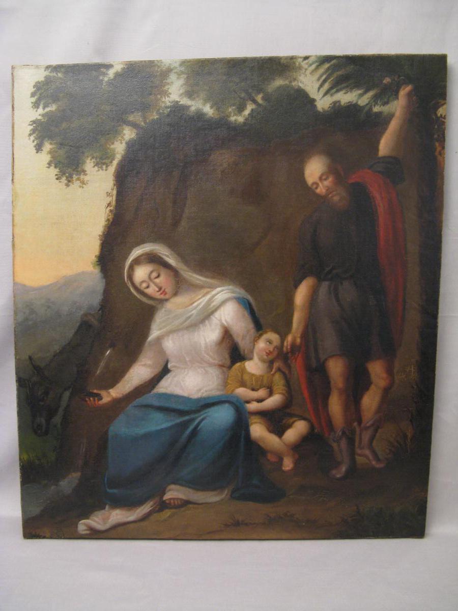 Tableau huile sur toile XVIII ème siècle la nativité