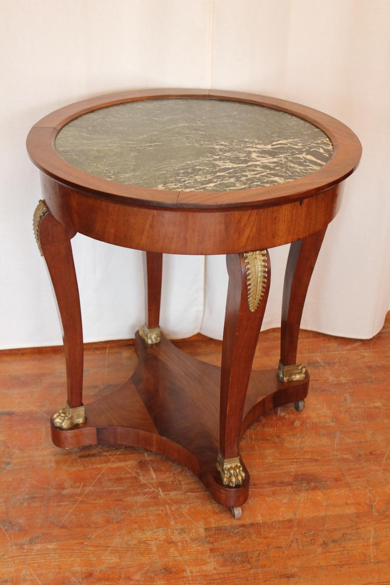 Empire Mahogany Pedestal Table Early Twentieth Century Style