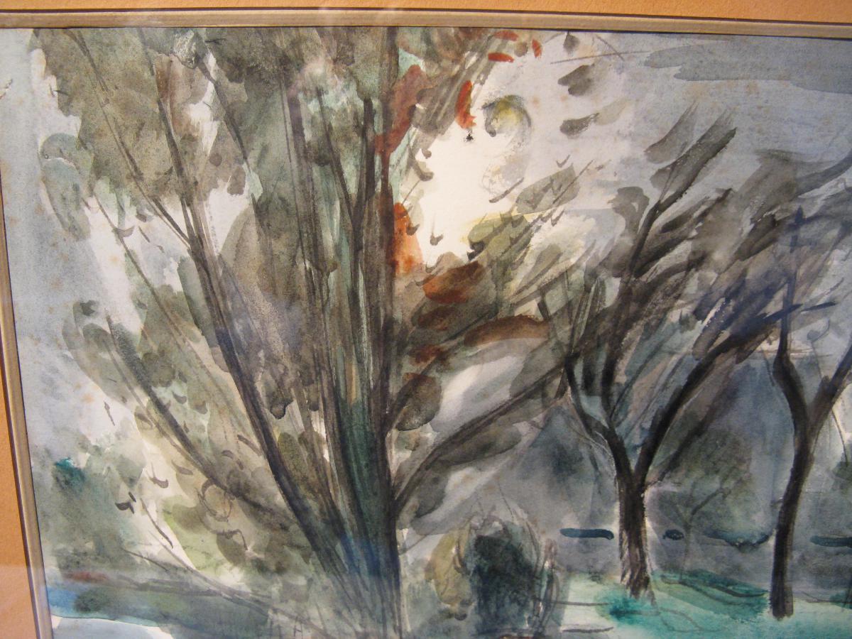 Watercolor Signed Roger Tolmer Twentieth Century-photo-4