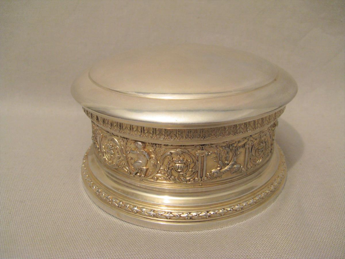 Jewelry Box Silver Punch Minerva Nineteenth Century