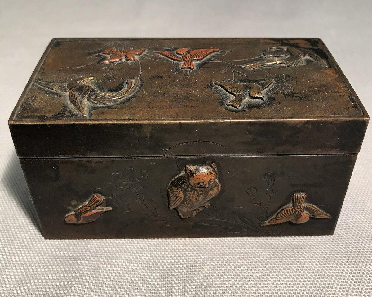 Encrier japonisant en bronze époque XIX ème siècle