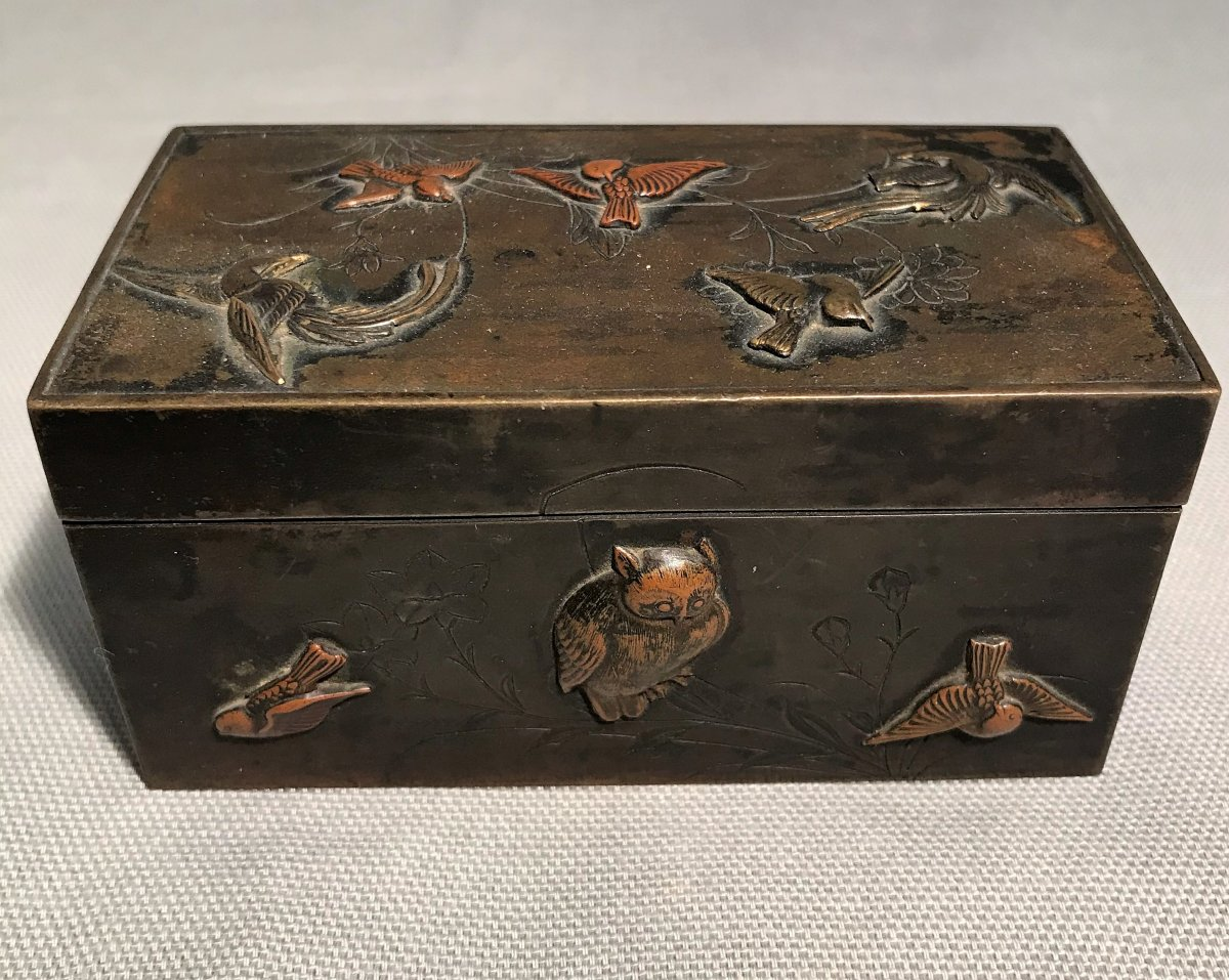 Japanese Inkwell In Bronze XIXth Century