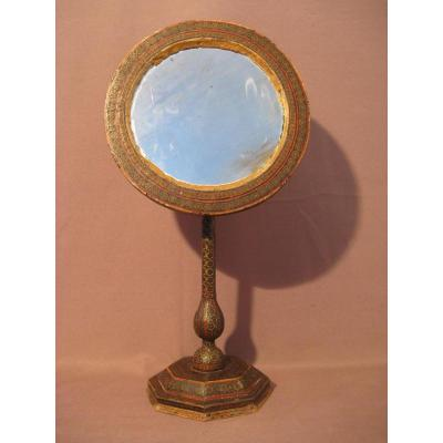 Rare Table Mirror Work Time Syrian Nineteenth Century