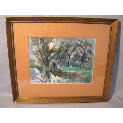 Aquarelle signée Roger Tolmer XXème siècle