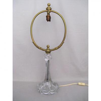 Lampe cristal Baccarat, bronze doré époque fin XIX siècle