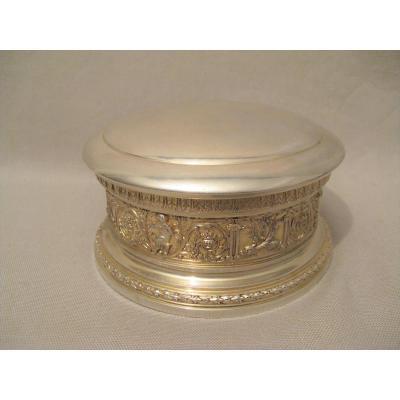 Boîte à bijoux argent poinçon Minerve XIX siècle