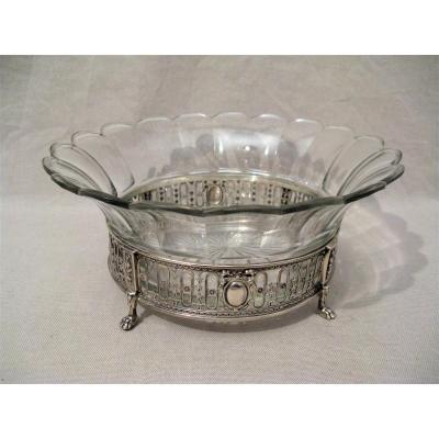 Coupe cristal et argent orfèvre Boin-Taburet fin XIX