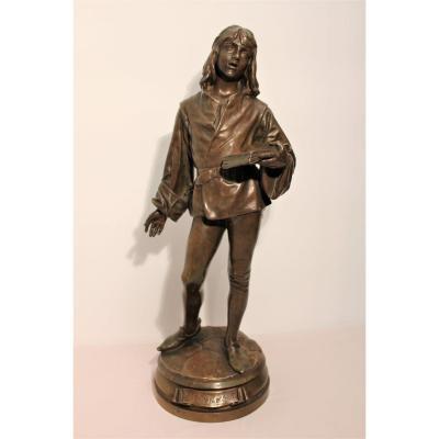 Bronze sur socle tournant signé Friedrich Beer fondeurs Susse frères Paris XIX siècle