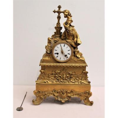 Gilded Bronze Clock Restoration Period S. Marti Movement And Co. XIX Century
