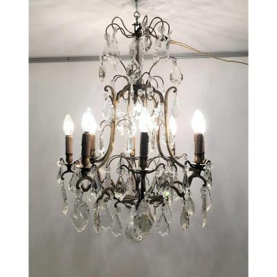Louis XV Style Chandelier With 9 Lights, Late 19th Century