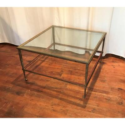 1940s Gilded Iron Coffee Table