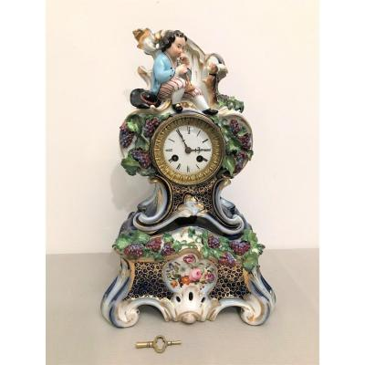 Jacob Petit Porcelain Clock XIXth Century