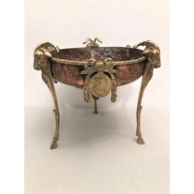 Surtout de table bronze et cuivre de style Louis XVI