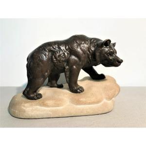 Bronze Bear Signed Chemin Joseph François XIXth Century