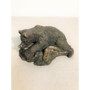 Bear Bronze Paperweight XIXth Century