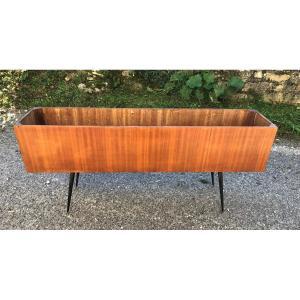 Jardinière en bois design 1950-1960