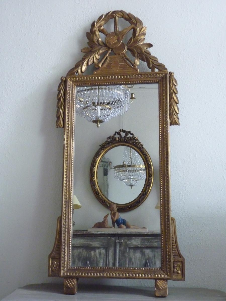 Miroir En Bois Doré Louis XVI
