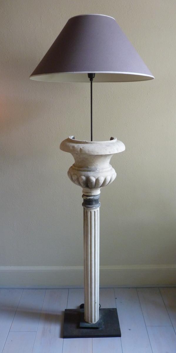 Paire De Lampes En Zinc