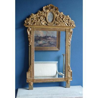 Louis XVI Mirror In Golden Wood, Around 1780