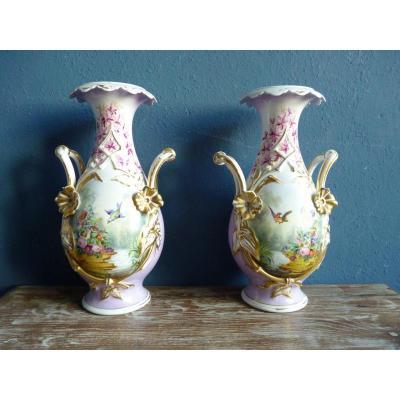 Pair Of Vases In Old Brussels