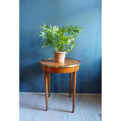 Directoire Pedestal Table In Rosewood And Marquetry