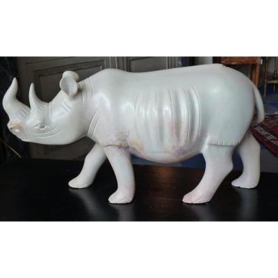 Rhinocéros En Steatite