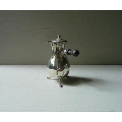 Small Silver Chocolate Pot