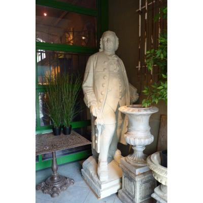 Carl Von Linné Plaster Sculpture