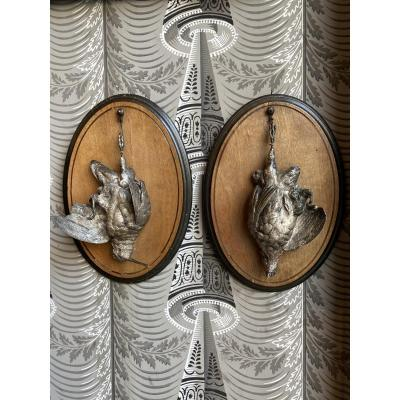 Pair Of Silver Bronzes By A. Dubucand