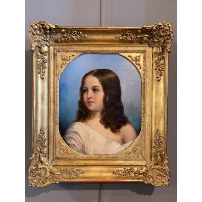 Pretty portrait of a girl, an indication on the back &quot;Sophie&quot;<br />