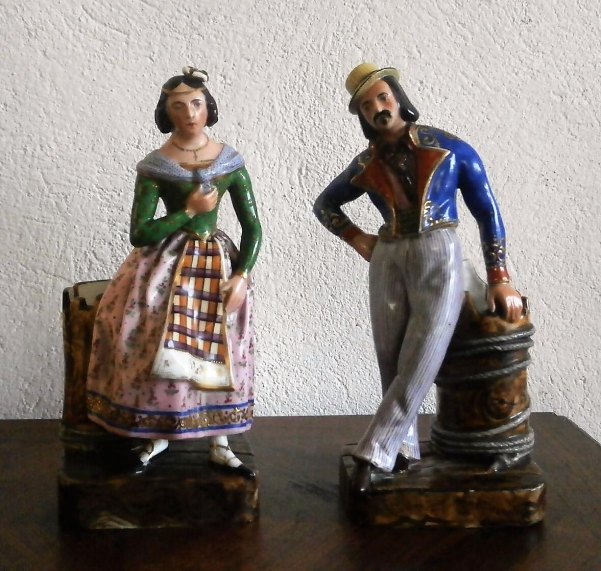 Elegant Couple In Porcelain Jacob Small