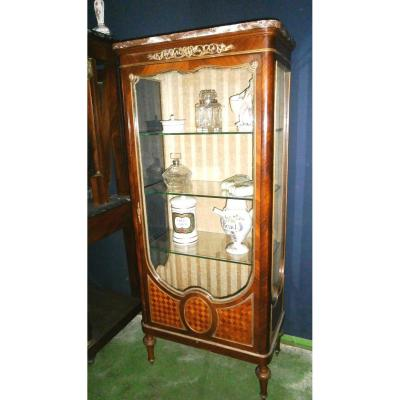 Louis XVI Display Case Rosewood And Rosewood Marquetry
